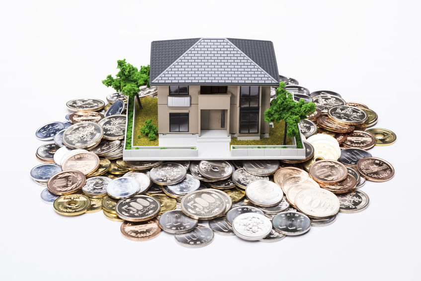 40028652 - house model and japanese coins