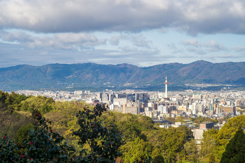 55453852 - cityscape of kyoto, kansai, japan