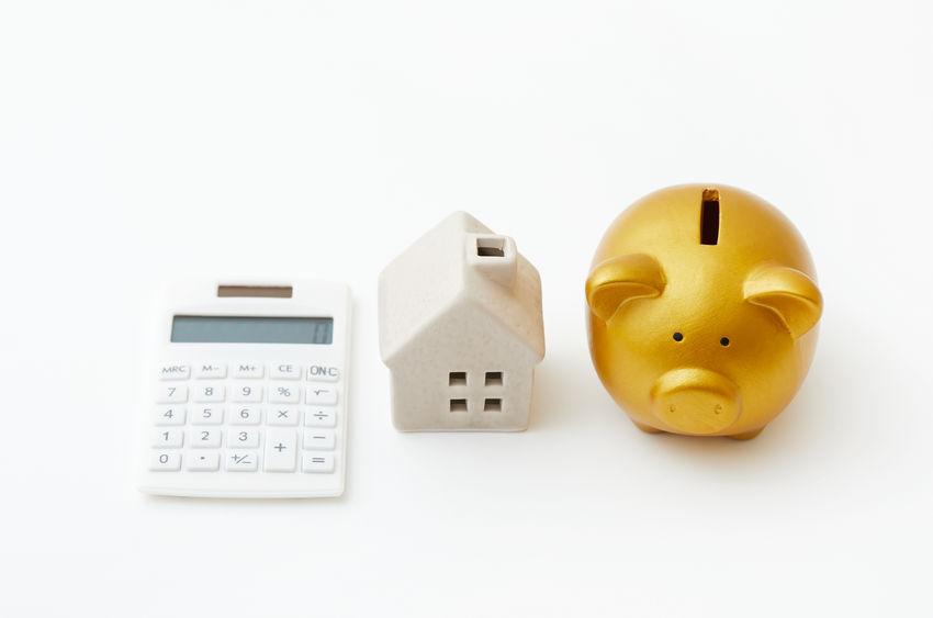 70933345 - piggy bank saving for house