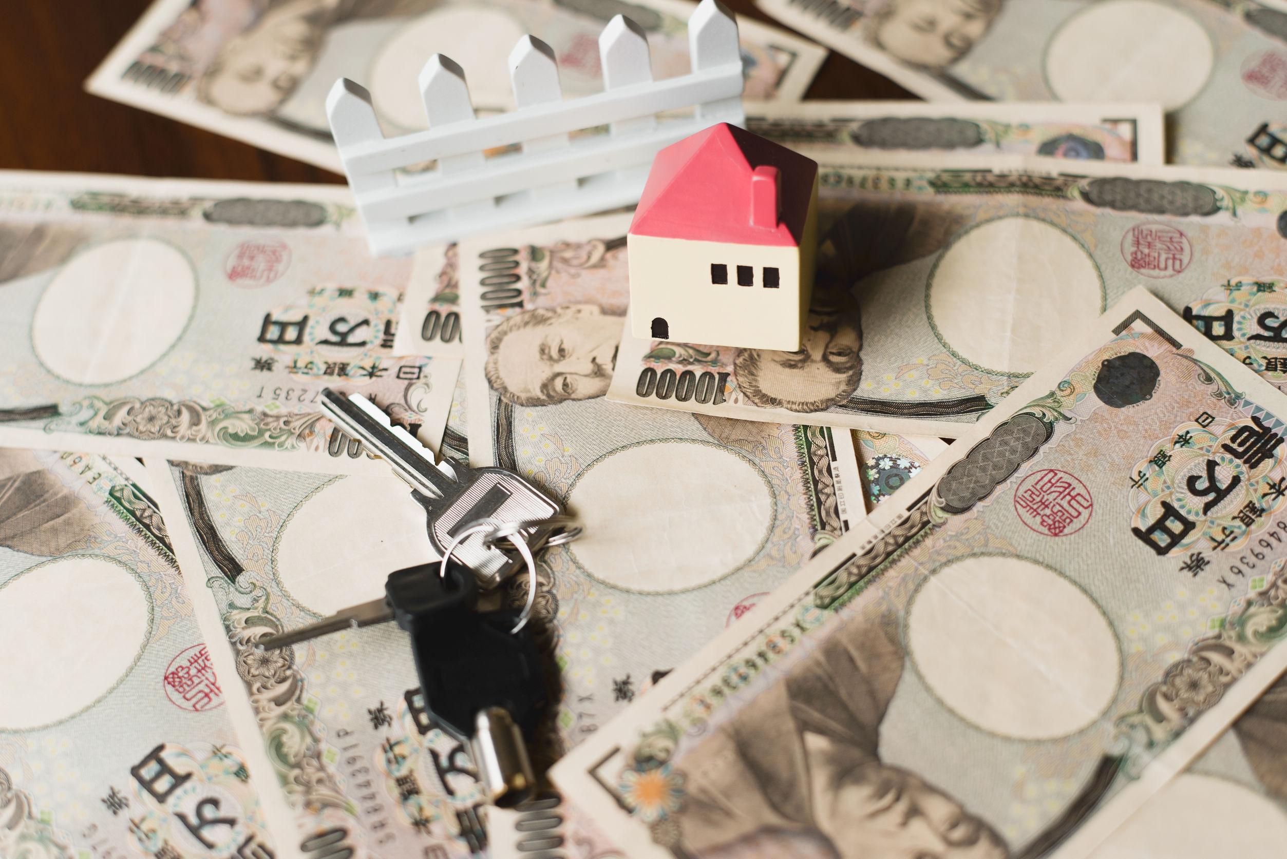 42419386 - house and ten thousand yen bills
