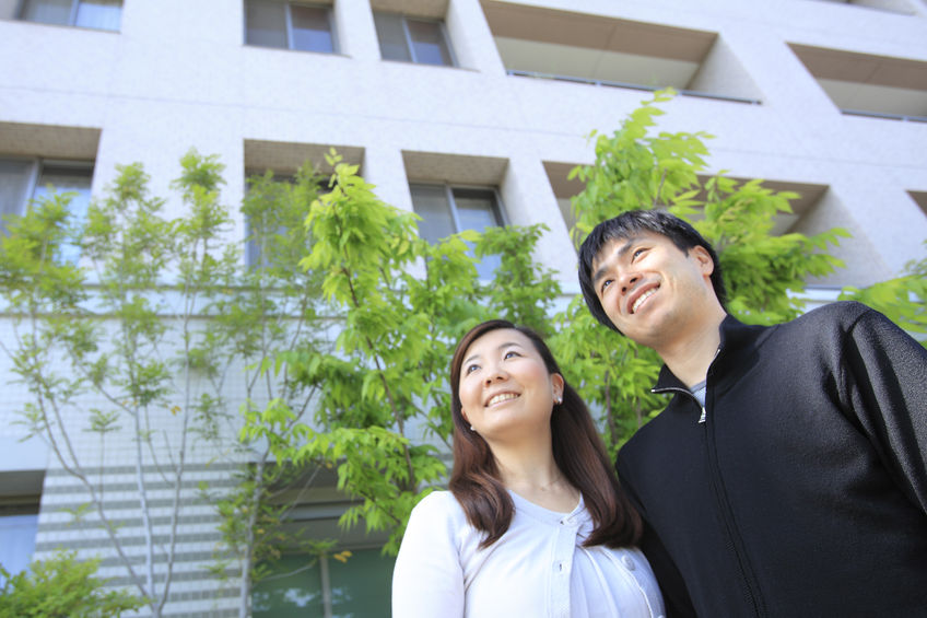 42684369 - young couple and apartments