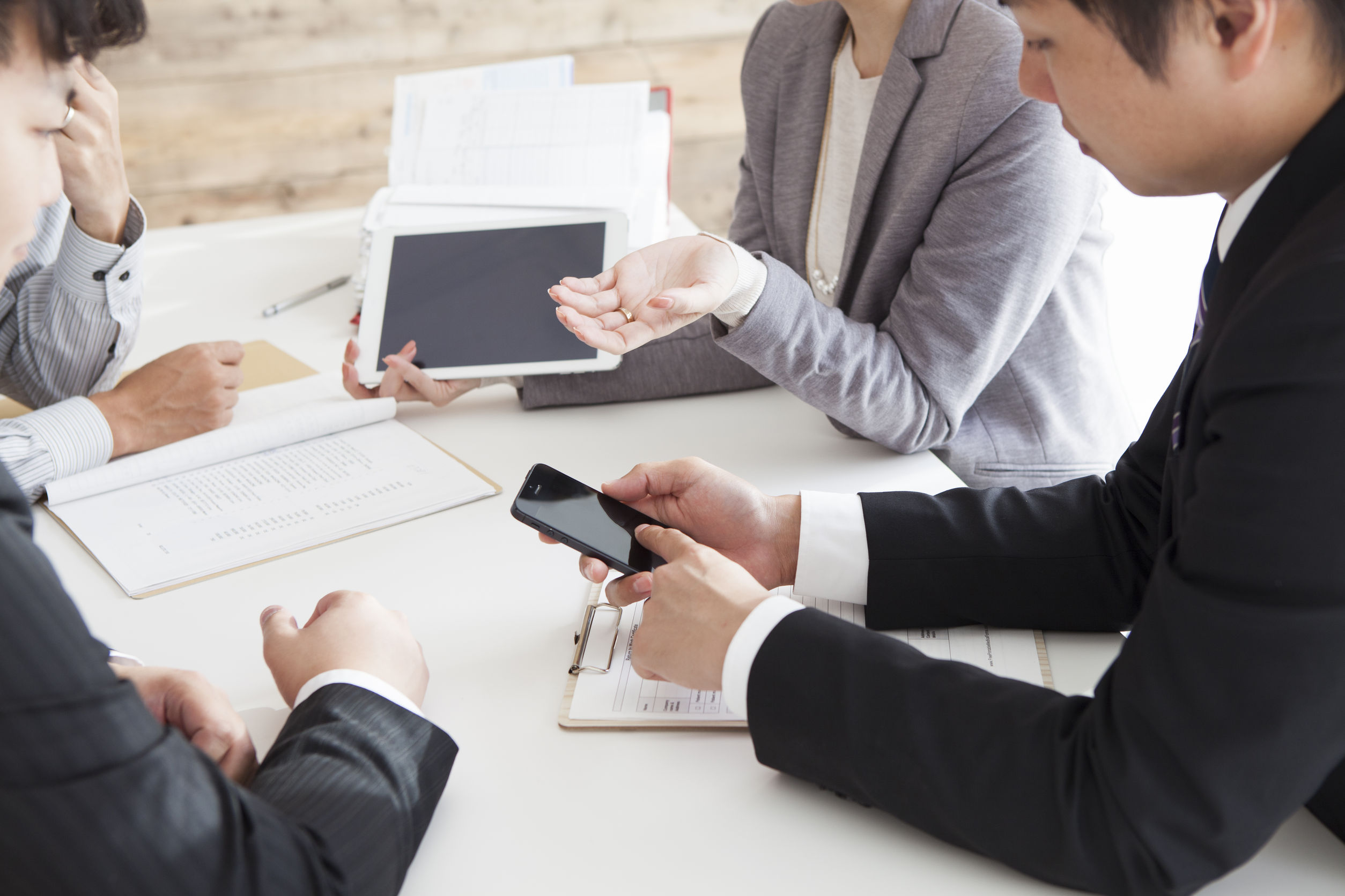 49819584 - group of successful business people having meeting together