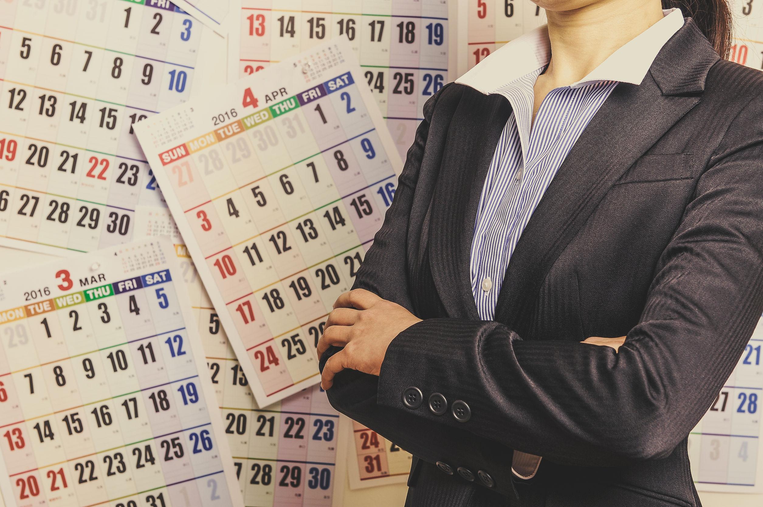 58684971 - calendar and women